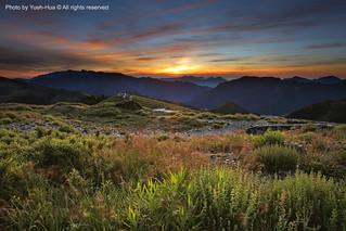 Hehuan Main Peak (3417M) at Sunrise, Nantou county │ July 14, 2012