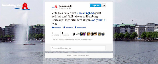 Screenshot Breaking Bad tweet hamburg.de auf twitter