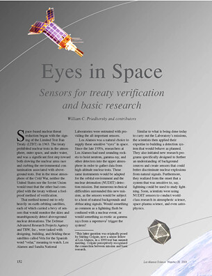 Eyes in Space Sensors for Treaty Verification and Basic Res