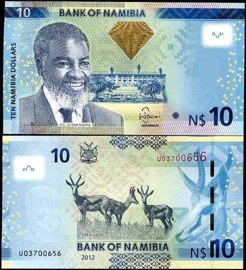 10 Dolárov Namíbia 2012