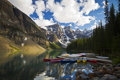 canoes - Moraine Lake - Banff National Park - 7-06-12  01