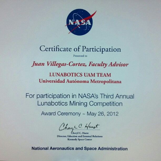 certificate with nasa - photo #5