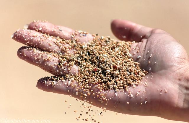 Bali has round sand!