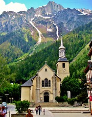 Chamonix, France, St. Michel Church, French Alps
