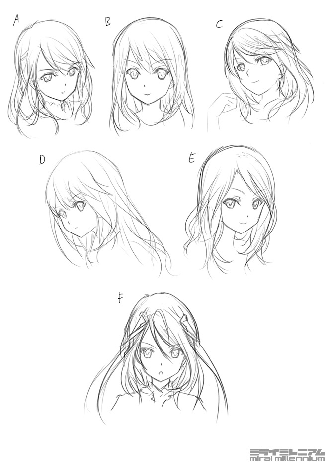 Character Design Hairstyles : Anime character design