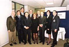 בארי בן זאב עם ראשי פ.א.ם בלונדון - לחצו להגדלה