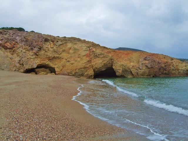 Triades beach, Milos, Greece,