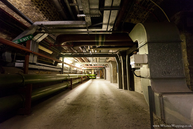 Underground tunnel and cellars at News international