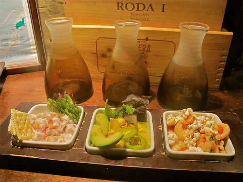 Ceviche Sampler at Rio Mar. Photo by Melanie Merz.