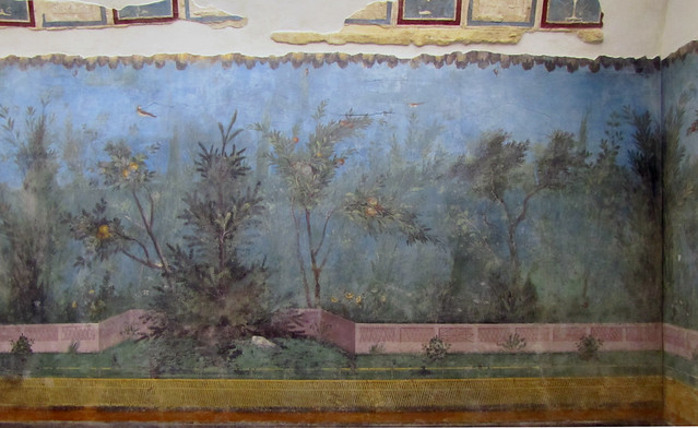 Painted Garden Villa Of Livia Detail With Pine Flickr