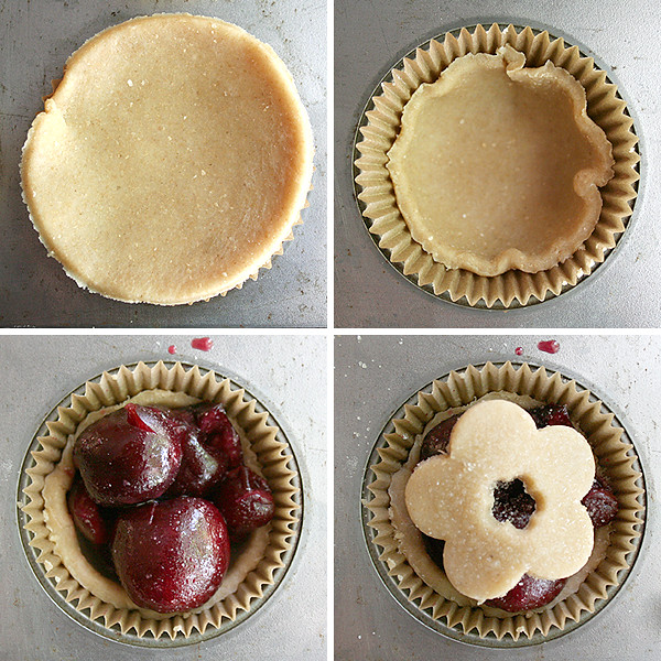 Mini, Sweet Cherry Cardamom Pie - My Humble Kitchen