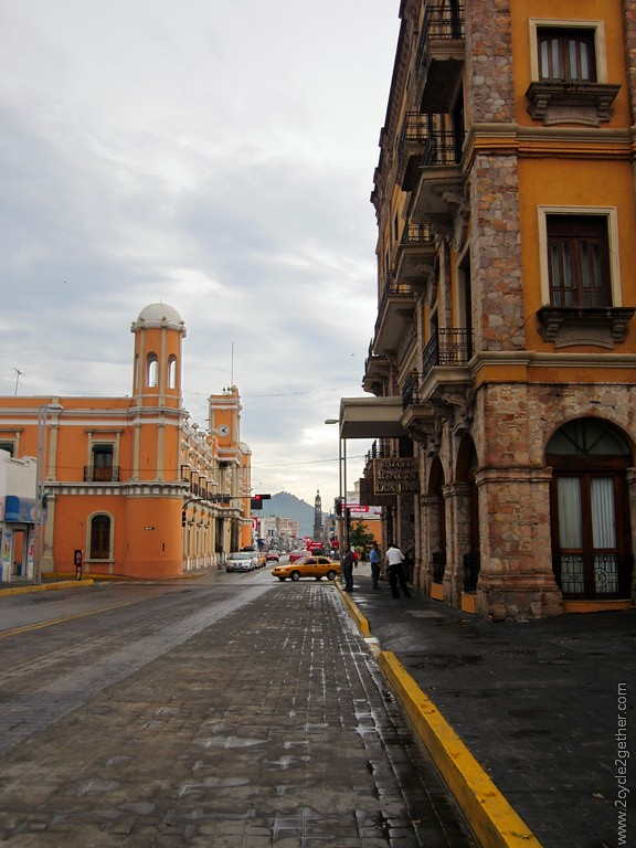 Cobbled streets of Downtown Tepic