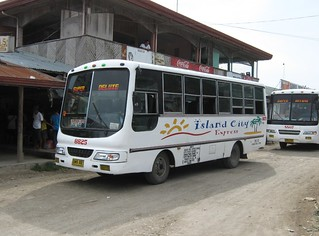 Island City Express buses in Samal island