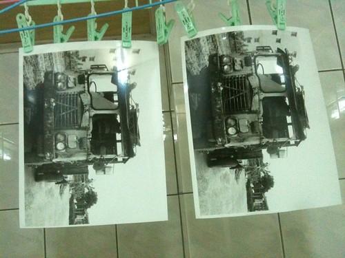 第一張黑白放相(8X10)