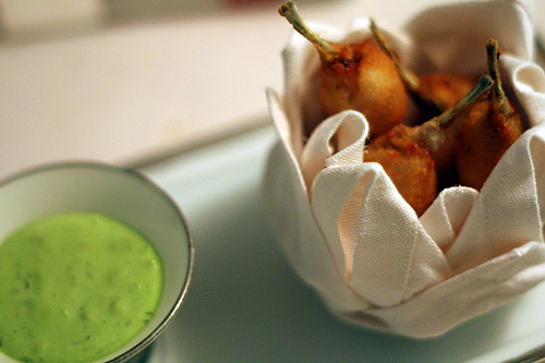 frogs legs and sorrel sauce