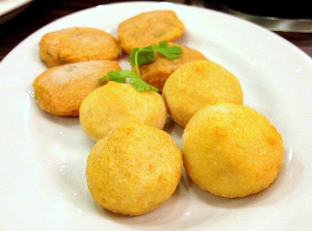 Fried Tofu Cake and Fish Balls