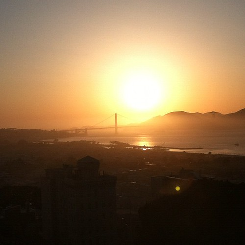 SF at sunset #nofilter