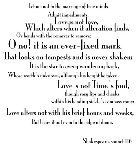 Shakespeare, sonnet 116