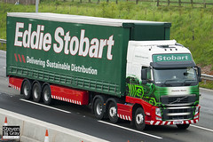Volvo FH 6x2 Tractor - PX11 BZW - Charlotte Marion - Green & Red - 2011 - Eddie Stobart - M1 J10 Luton - Steven Gray - IMG_4667
