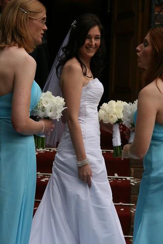 bride and brides maids