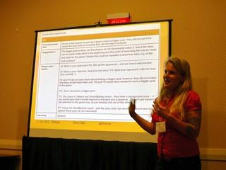 Elina Ollila presenting at WRPG'12