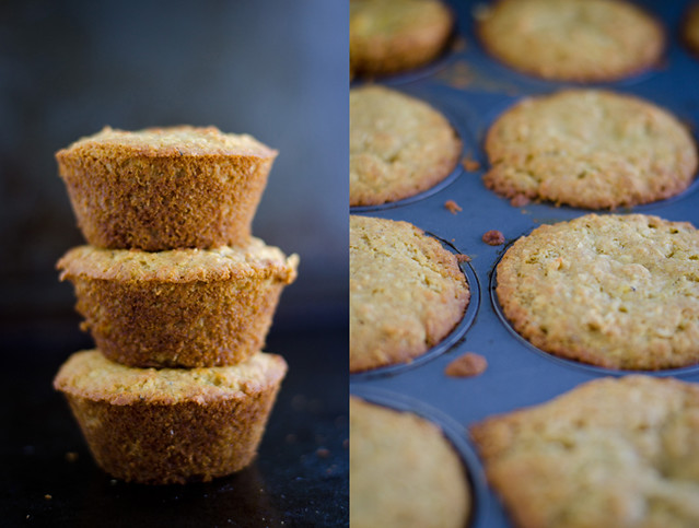 Cardamom Infused Citrus Coconut Muffins out of oven by Mary Banducci