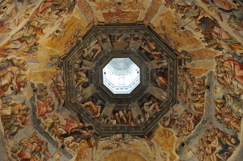 Inside the dome of the Duomo