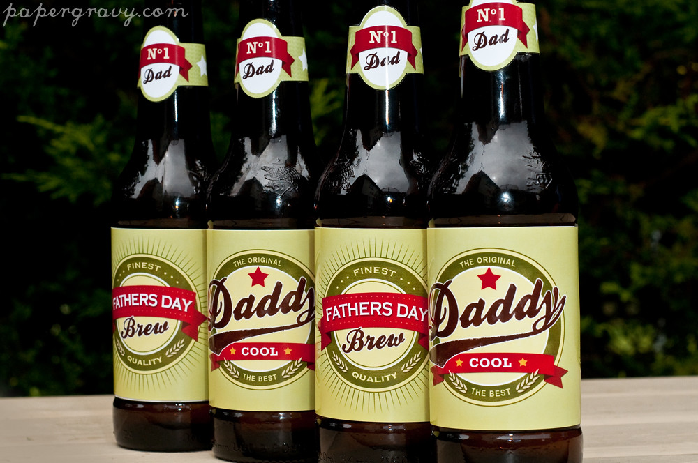 image relating to Printable Beer Labels named printable fathers working day retro beer labels offered against www
