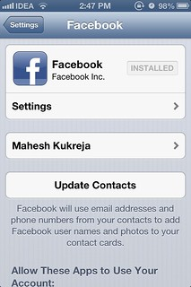 Facebook Integration iOS 6