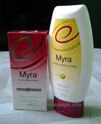 Myra Facial Moisturizer and Myra Hand and Body Lotion