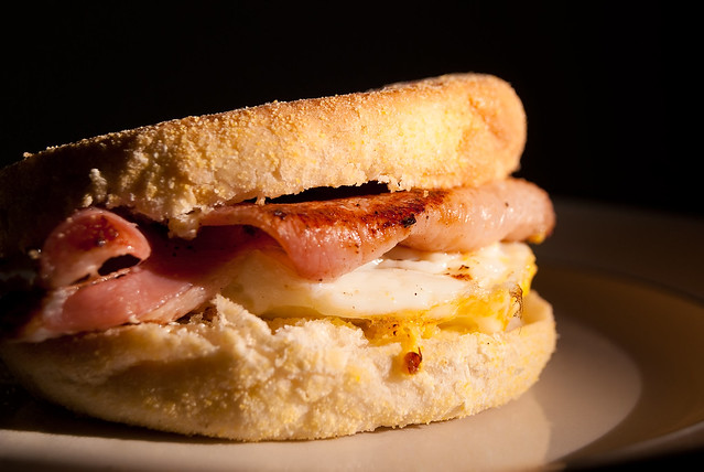 Bacon and Egg Muffin | Bacon and egg muffin I made this morn ...
