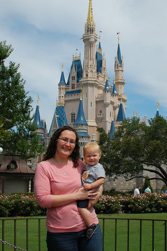 Me, George and Cinderella's Castle.
