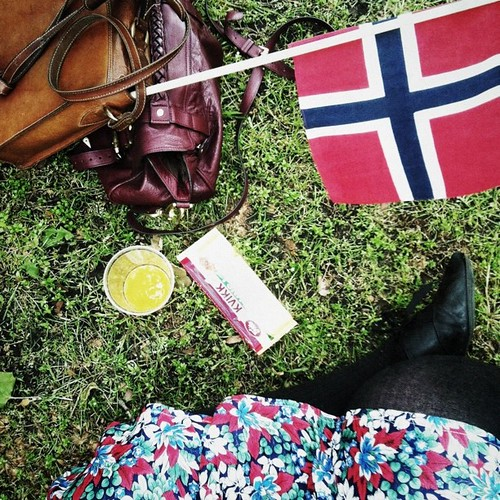 wondering if it's possible to die from homesickness, self-medicating with norwegian hot dogs and milk chocolate. actually having a nice time