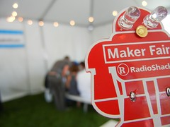 light up badge in Radio Shack booth