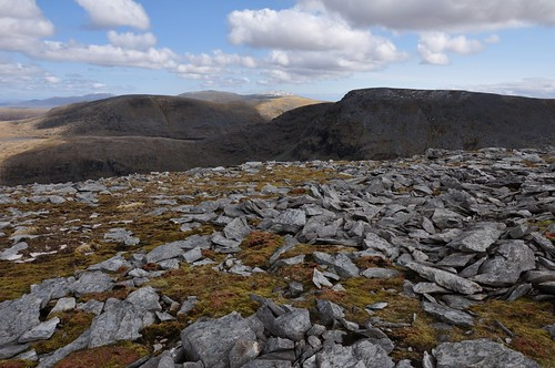 A distant Ben Hee from Meall Garbh