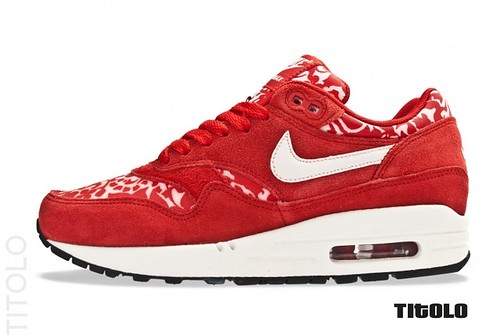 low priced b35e1 282db Nike WMNS Air Max 1 ND  Sport Red  Sail- Sail