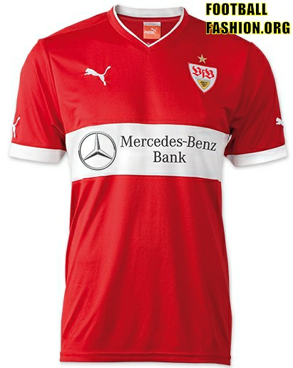 Vfb stuttgart puma 2012 13 home away and third kits for Germany mercedes benz soccer jersey