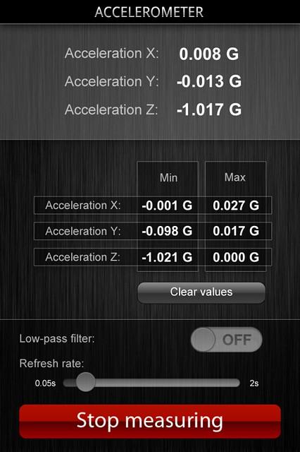 Accelerometer app