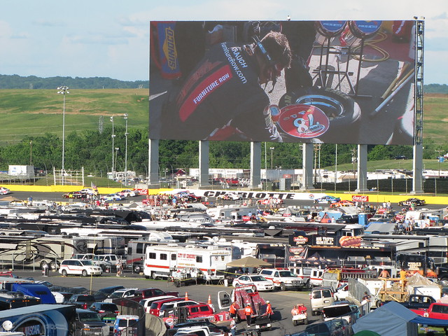 Charlotte Motor Speedway Infield And Large Tv Screen