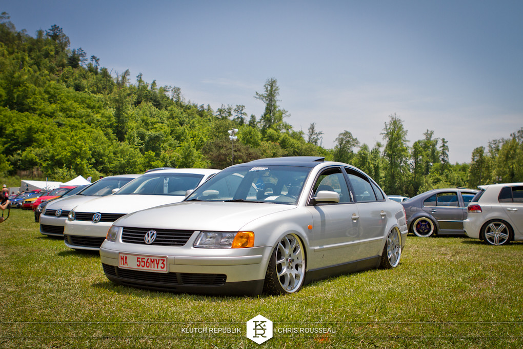 silve b5.5 vw passat on airride and brabus 2pc wheels at southern worthersee 2012