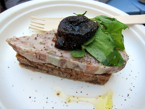 The Union: Rabbit Terrine and prune on walnut bread