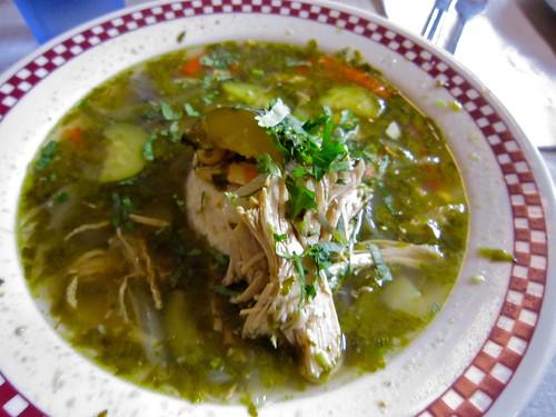 "St. Francis Fountain - Chicken Cilantro Soup ""Poor Man"""