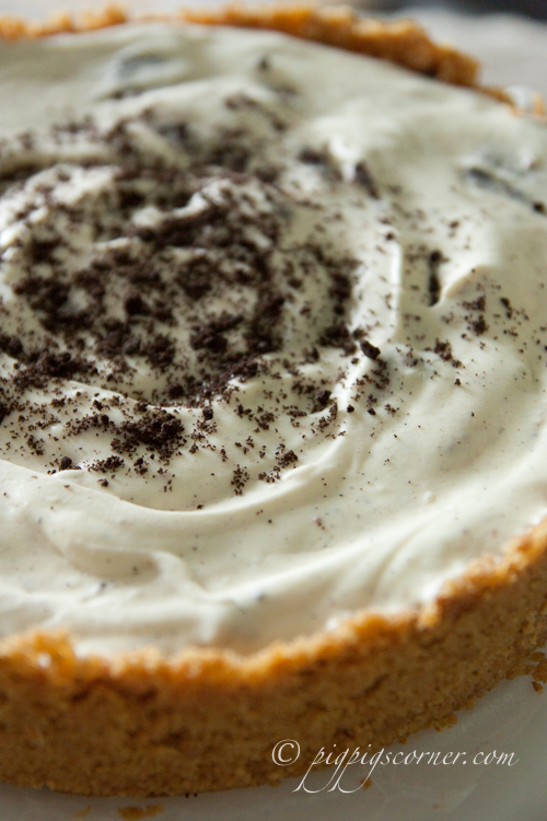 No-Bake Peanut Butter Oreo Cheesecake