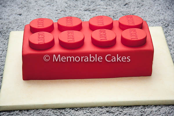 8 Stud Lego Brick Cake 12 X 6 Inch Sponge Filled With