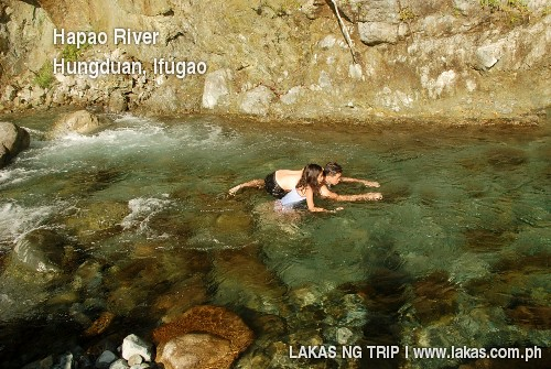 Dip in Hapao River in Hungduan, Ifugao
