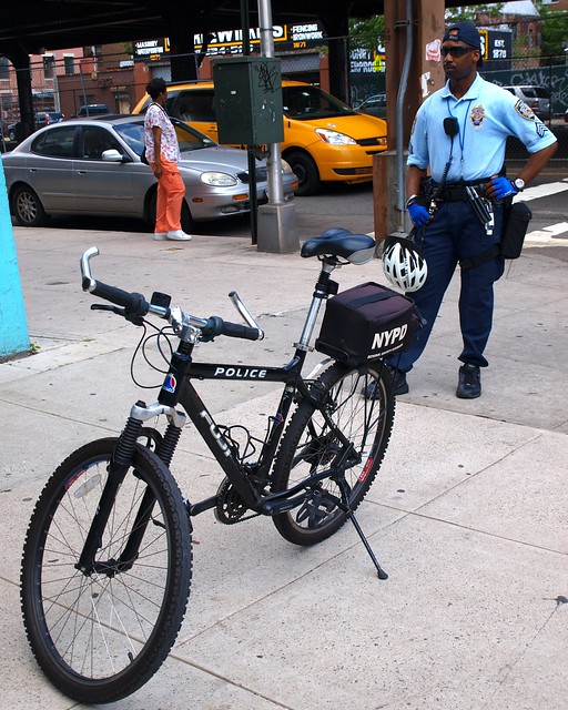 NYPD School Safety Bicycle Police Officer, Harlem, New