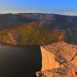 Preikestolen in morning sun (2)