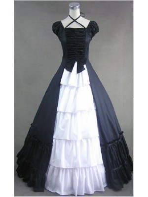 black and white gothic victorian dress