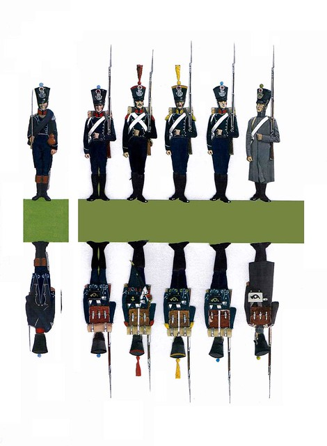 French Light Infantry paper soldiers 1815