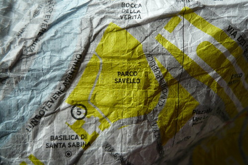 Crumpled Map - detail